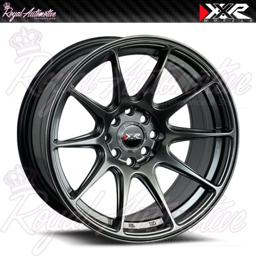 XXR 527 Concave Alloy Wheels 17x8.25 ET25 5x100 5x114.3 Chrome Black JDM Euro